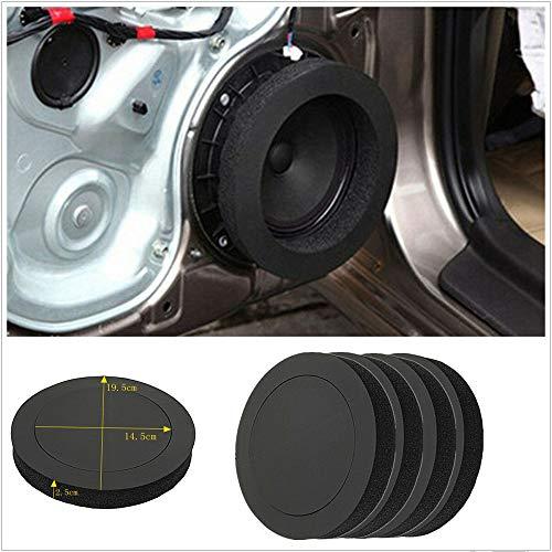 BAQI 4 stücke Universal 6,5 Zoll Schaum Ring Isolierung Ring Schalldichte Wattepad Autotür Lautsprecher Bass Enhancer System Kit -
