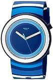 Swatch Damen Analog Quarz Uhr mit Silikon Armband PNN104