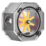 VBESTLIFE Aluminiumlegierung G1 / 4 Gewinde Wasserkühlung Durchflussmesser Indikator für PC Wasserkühlung(Grau)