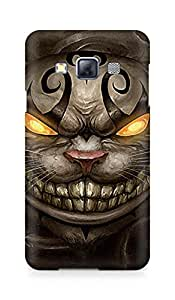Amez designer printed 3d premium high quality back case cover for Samsung Galaxy A3 (Alice Madness returns cheshire cat)