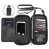 KEAFOLS Reisepass Tasche Familie Reisepasshülle mit RFID Schutz Reiseorganizer Ausweistasche...