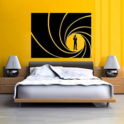 Wandtattoo Wohnzimmer Wandtattoo Schlafzimmer Agent 007 James Bond Thunfisch gebogenes Wohnkultur
