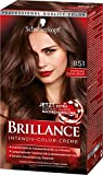 Schwarzkopf Brillance Intensiv-Color-Creme, 851 Mystisches Schoko-Braun Stufe 3, 3er Pack (3 x 143 ml)