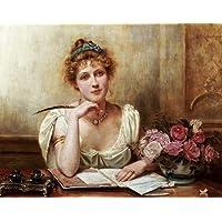 Feelingathome-Stampa-artistica_x_cornice-La-lettera-cm61x77-arredo-poster-fineart