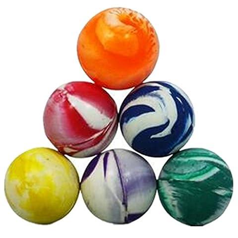 Balles Rebondissantes - homiki 15pcs Balles rebondissantes Idéal Elastiques Colorés