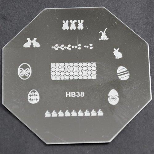 Nail Art emboutissage des tôles - HB38 CODE : HB38-plaque