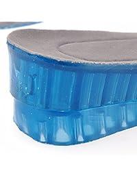 Pixnor Plantillas de aumento Plantillas Altura 4,5 cm altura ajustable de 2 capas de silicona plantillas aumento zapato levanta cojines del zapato