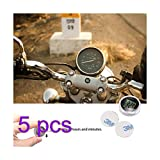 Sunsbell Motociclo Universale Orologi Orologio da polso Impermeabile Stick-On Moto Digital Clock Suit ATV Tutto Moto (5PCS)