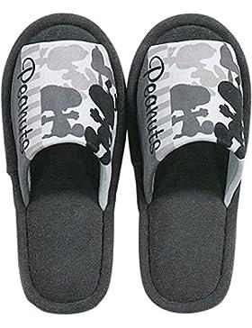 SENKO cacahuetes Snoopy Zapatillas Casa Zapatos Tamaño Aproximadamente 7,5silueta gris