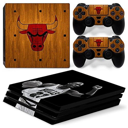 GoldenDeal Skin für PS4 Pro Konsole und DualShock 4 Controller, Vinyl, Basketball NBA
