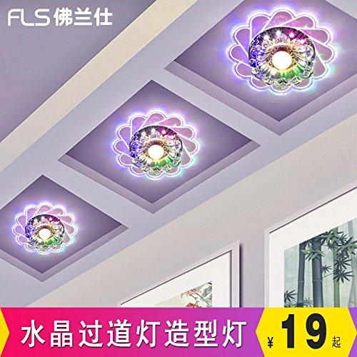 LIYJG Einfache Crystal Kinderzimmer Deckenleuchten kreative Mode Wohnzimmer Esszimmer Schlafzimmer Balkon Gang Studie Beleuchtung, Six-Range Beleuchtung + 3 W Wandhalterung Led