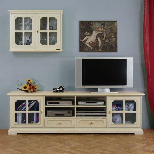 Mobile porta tv per parete soggiorno con vetrina pensile - Bravi In Casa