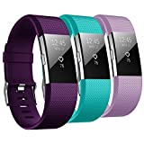 Bepack Fitbit Charge 2 Cinturino, TPU Morbido Silicone Regolabile di Ricambio Bracciale per Fitbit Charge 2