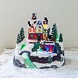 Décoration Patinoire pour Village de Noël Lumineux par Lights4fun