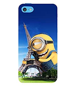 Vizagbeats minion hugging eiffel tower Back Case Cover for Apple iPhone 4::Apple iPhone 4S
