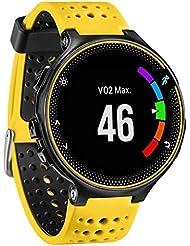 Malloom Silicona Banda de reloj ajustable correa de reloj de correa de reloj de reemplazo para Garmin Forerunner 230/235/220 Watch (amarillo)