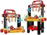 Giocattolo Banco da Lavoro con Attrezzi 2 in 1 per Bambini