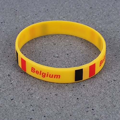 nd Silikon Armband Sport Armband für Fußball Thema Bar Party Dekorationen (Belgien) ()