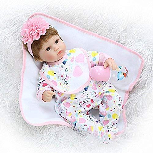 Rocking Horse Vinyl Baby Doll,Cute Reborn Doll,Fun Nurturing Doll,Waterproof Magnet Pacifier,17 Inch Handmade Gift Set