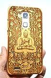 RoseFlower Huawei Ascend Mate 7 Holzhülle - Kirsche Holz indische Buddha - NatürlicheHandgemachteBambus/Holz Schutzhüllemit Kostenlose Displayschutzfolie für Ihr Smartphone