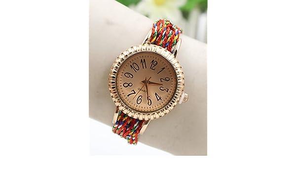 145841fb3b PEISHI J ultima quotazione oro rosa moda coreana fortunata serie di orologi  da donna colorati , 3#-for lady: Amazon.it: Orologi