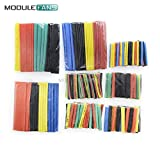 328Pcs Auto elektrische Kabel Röhren Bausätze Heat Schrumpf Röhren Schlauch Wickel Hülse sortiert 8 Größen gemischte Farbe