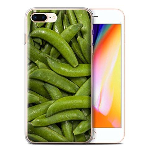 Stuff4 Gel TPU Hülle / Case für Apple iPhone 8 Plus / Pack 10pcs / Lebensmittel Kollektion Grüne Bohnen