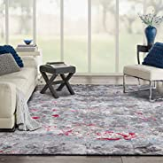 Al Salem Vogue Rectangle Carpet, 150 x 230 cm, 7 Kg, Light Grey/ Light Blue