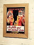 Vintage Français Reproduction d'affiche de film A4en Choix de 3cadres à partir...