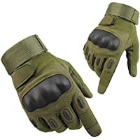 Tactical Gloves, Dito Completa Moto Guanti tattici Con Velcro (Army green L)