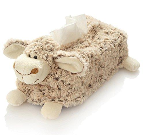 Hansen Plüsch Schaf Kosmetiktücherbox 25 cm braun natur Kind Baby Lamm Lämmchen kuschelweich - Box-plüsch