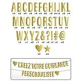 Buchstaben girlande - golden