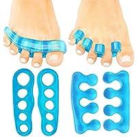 auvstar Fuß Aligner Zehentrenner–(2Paar) Silikon Gel Spacer–Pediküre Fuß Streichmesser–Zehen Pads & Kissen... preisvergleich bei billige-tabletten.eu