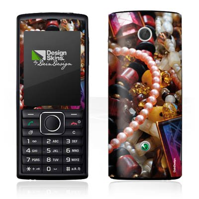 DeinDesign Sony Ericsson Cedar Case Skin Sticker aus Vinyl-Folie Aufkleber Schmuck Juwelen Perlen