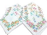 Ladies Handkerchiefs -12 pcs -25 CM X 25...
