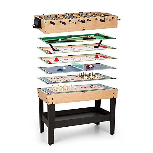 OneConcept Game-Star • Spieletisch • Multifunktionstisch • 37 Verschiedene Spiele • höhenverstellbare Tischfüße • ausführliche Spielbeschreibungen • Maße: ca. 105 x 71 x 58 cm (BxHxT)