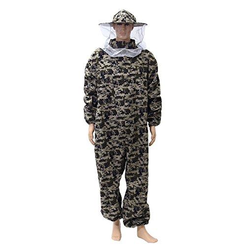 Alamor Camouflage Imker Anzug Schutzhose Schleier Biene Schutzkleidung-S