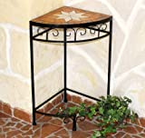 DanDiBo Sgabello fiori Merano Mosaico 12013 Porta fiori 62 cm Sgabello Scaffale ad angolo Tavolo