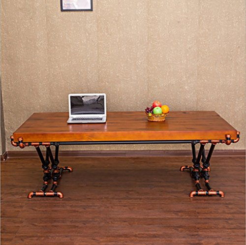 Preisvergleich Produktbild American Vintage Couchtisch Kreative Eisen Holz Couchtisch Loft Wohnzimmer rechteckig lässig Couchtisch
