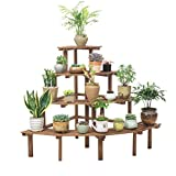 4 niveaux échelle fleur supports en bois coin étagères jardin plante affichage...