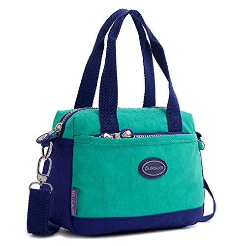 Tiny Chou Borsa leggera in nylon impermeabile borsa a tracolla sportiva borsa a tracolla per bambine Verde (verde)