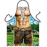 DMB&R Pantaloncini Uomo muscoloso Creativo Stampato Grembiuli da Cucina Regolabile Bavaglino personalità Divertente I Regali