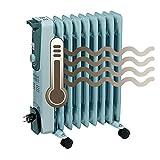 Einhell  Elektro Heizung Ölradiator MR 920/2 (2000 Watt, 3 Heizstufen,  Thermostat, 4 Lenkrollen, praktische Kabelaufwicklung, integrierter Griff) -