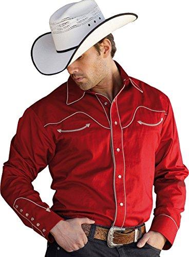 Stars & Stripes Herren Westernhemd »JACK« Rot (XXXL)