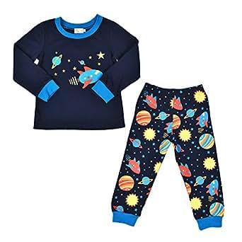 cbca81509865 Tkria Boys Pyjamas Kids Outfits Toddler-Space Pjs Toddler Shirt Pants  Sleepwear Clothes Set 2