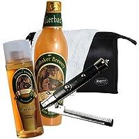 BRUBAKER bagno Beer Box - 5 pezzi - regalo per gli uomini - con borsa toilette, washcloth e pettine pieghevole
