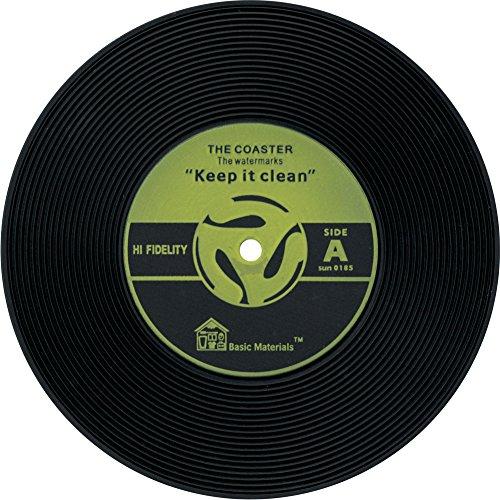 Vintage Schallplatten Untersetzer-4Farben erhältlich-Set von 2 gelb