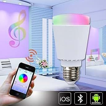 LED 11w e27 a60 39x5630smd 900lm Ra85 3000-6000k RGBW couleur de commande bluetooth évolution intelligente ampoule AC85-265V