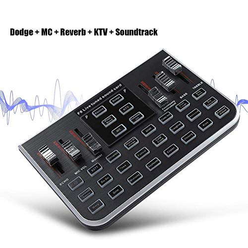XuBa Tragbare Live Soundkarte Digital Audio Mixer Mischkonsole Handy Live Broadcast Karaoke-Stimme für MC, Reverb, KTV und Soundtrack