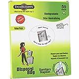 DOMKINPPY Sanitary Napkin Disposal Bag- Pack of 50